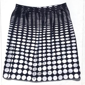 J Crew A-Line Polka Dot Skirt w/Pockets Sz 8